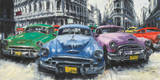 Classic American Cars In Havana Art by Antonio Massa