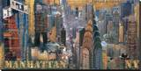 New York XVI Stretched Canvas Print by John Clarke
