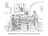"""Anything wrong, sweetie pie? You've been ignoring the tip jar lately."" - New Yorker Cartoon Premium Giclee Print by Mick Stevens"