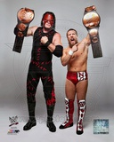 Daniel Bryan & Kane with the Tag Team Championship Belts 2012 Posed Photo