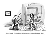 """Here's the deal. I'll stop playing my bagpipes when you stop playing your…"" - New Yorker Cartoon Premium Giclee Print by Shannon Wheeler"