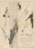 1950's Fashion - Suit Silouhette Prints by Odette Lafontaine