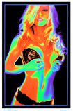 Satio Pin-up Blacklight Poster Posters
