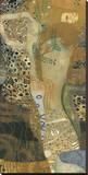 Søslange II, 1907 Lærredstryk på blindramme af Gustav Klimt