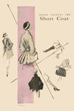 1950's Fashion - Short Coat Art by Odette Lafontaine