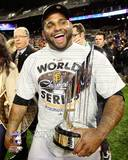 Pablo Sandoval with the World Series MVP Trophy Game 4 of the 2012 World Series Photo