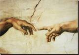 La Creazione, Detail Stretched Canvas Print by  Michelangelo