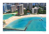 Tilt Shift Waikiki Beach Limited Edition by Richard Silver