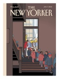 The New Yorker Cover - January 7, 2013 Regular Giclee Print by Chris Ware