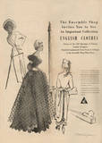 1950's Fashion - English Clothes Prints by Odette Lafontaine