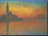 San Giorgio Maggiore ao anoitecer, 1908 Impressão em tela esticada por Claude Monet