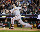 Buster Posey 2 Run Home Run Game 4 of the 2012 World Series Action Fotografía