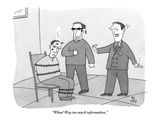 """Whoa! Way too much information."" - New Yorker Cartoon Premium Giclee Print by Peter C. Vey"