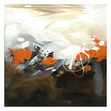 Abstrakt orange Posters af Meejlau