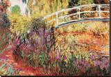 Le Pont Japonais Stretched Canvas Print by Claude Monet