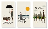 London/Paris/New York Posters