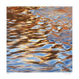 Liquid Gold Square 3 Giclee Print by Joy Doherty