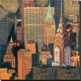 New York XVII Stretched Canvas Print by John Clarke
