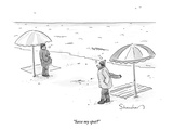 """Save my spot?"" - New Yorker Cartoon Premium Giclee Print by Danny Shanahan"