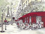 Cafe de Paris Print by Chloe Marceau