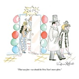 """That was fun—we should do New Year's more often."" - New Yorker Cartoon Premium Giclee Print by Victoria Roberts"