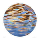 Liquid Gold Circle 2 Giclee Print by Joy Doherty