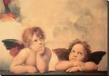 Angels Stretched Canvas Print by  Raffaello