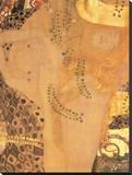 Søslange, 1907 Lærredstryk på blindramme af Gustav Klimt