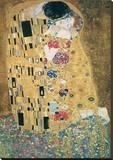 De kus Kunstdruk op gespannen doek van Gustav Klimt