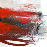 Red Abstract Trio II Posters by Sylvie Cloutier
