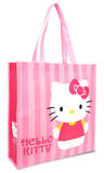 Hello Kitty Stripes Large Recycled Shopper Tote Bag Tote Bag