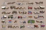 Hooves and Wheels - Horse-Drawn Vehicles Educational Poster - Reprodüksiyon