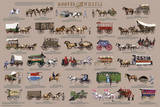 Hooves and Wheels - Horse-Drawn Vehicles Educational Poster Posters