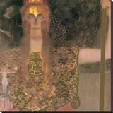 Pallas Atena, 1898 Płótno naciągnięte na blejtram - reprodukcja autor Gustav Klimt