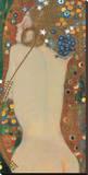 Serpente do Mar IV, 1907 Impressão em tela esticada por Gustav Klimt