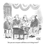 """Are you sure everyone will know we're being ironic?"" - New Yorker Cartoon Premium Giclee Print by Christopher Weyant"