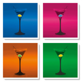 Martini Glasses Prints