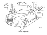 """It runs on hybrids."" - New Yorker Cartoon Premium Giclee Print by Michael Shaw"