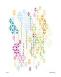 Native Triangles Giclee Print by Adrienne Wong