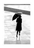Walking in the Rain Print by David Cowden