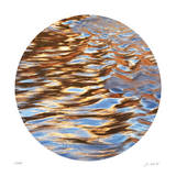 Liquid Gold Circle 3 Giclee Print by Joy Doherty