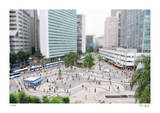 Tilt Shift Rio Street Limited Edition by Richard Silver
