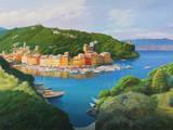 Vista dal Monte di Portofino Art by Adriano Galasso
