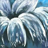Blue Daisy Prints by Nathalie Poulin