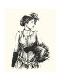 Vintage Fashion I Print by Ethan Harper
