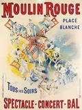 1902- Réouverture Moulin Rouge Reproduction procédé giclée par Jose Belon