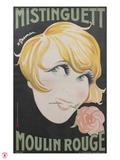 1925 Mistinguett Moulin Rouge Reproduction procédé giclée par Charles Gesmar