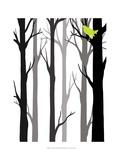 Forest Silhouette II Poster von Erica J. Vess