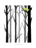 Forest Silhouette II Print by Erica J. Vess