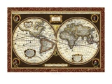 Decorative World Map Prints by  Vision Studio